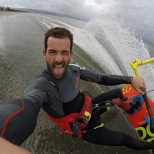 Le Jai local kitesurfer, Yann Chouard