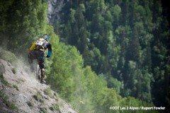 Les 2 Alpes Mountain Biking - singletrack traverse