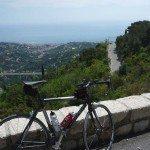 Half Way Up the Col de la Madone Cycle Climb, Provence-Cote d'Azur