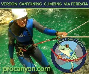 Canyoning, Rock Climbing and Via Ferrata in Verdon, France with the Bureau des Guides de Canyon
