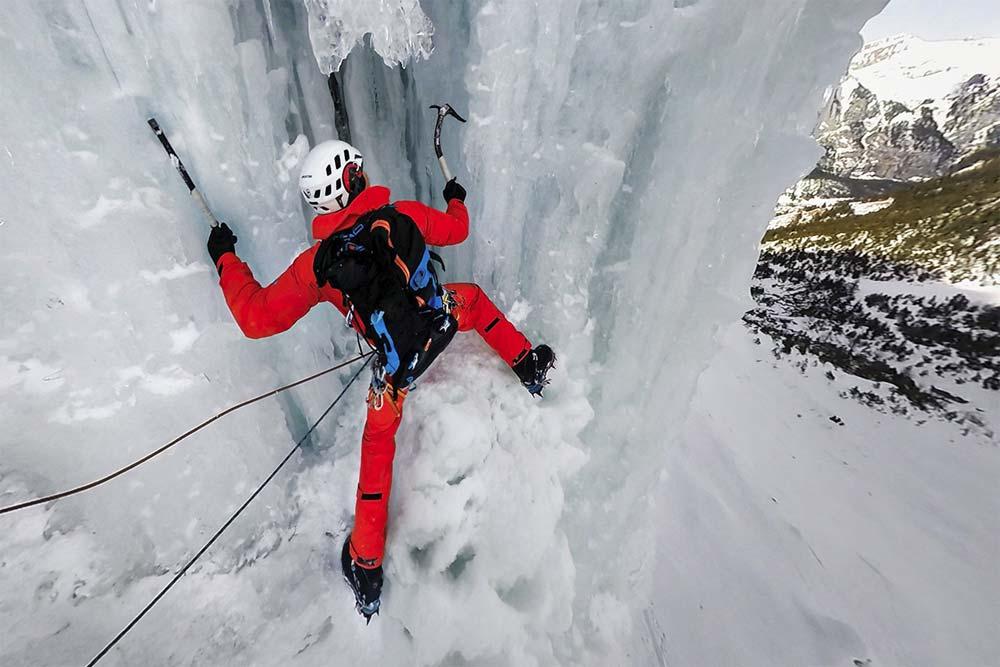 Ice climbing in the Ubaye Valley