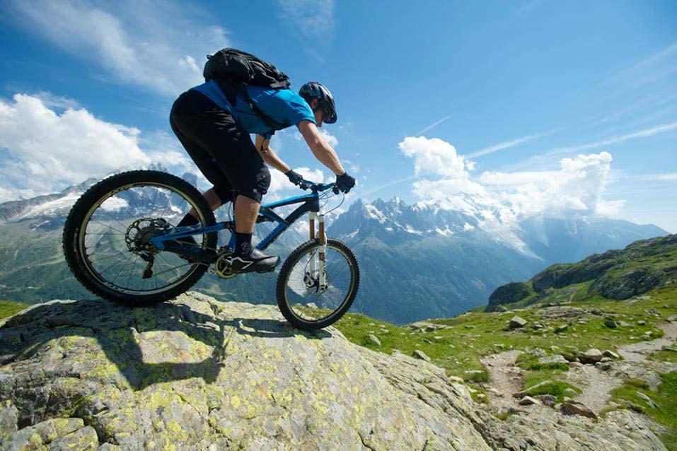 Matt Hunter rides the Tour du Mont Blanc MTB circuit