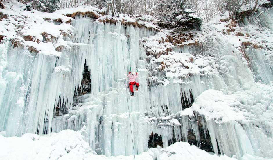 Ice climbing in Chamonix with Adventure Base
