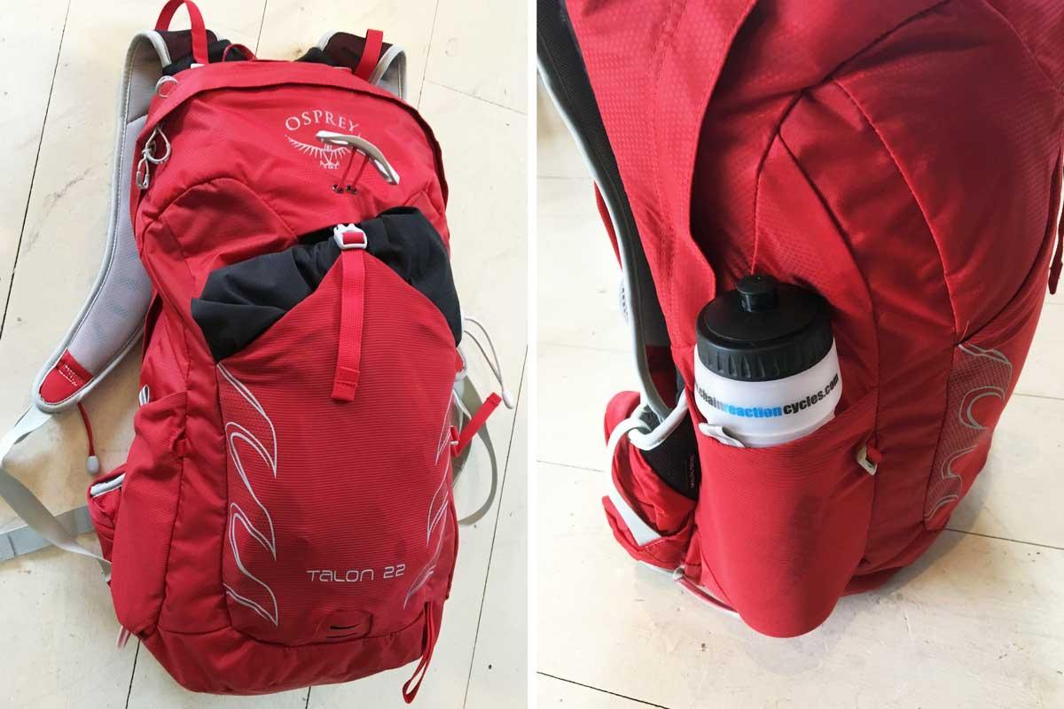 Osprey Talon backpack pockets
